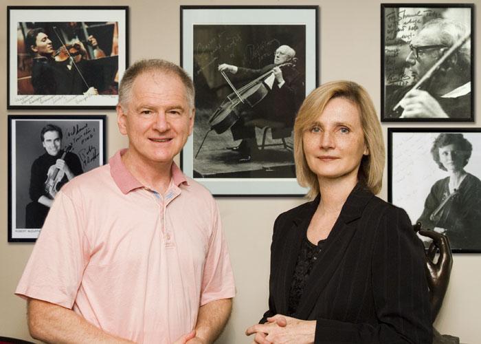 Physical Therapist Shmuel Tatz and Violinist Hanna Lachert